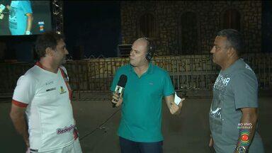 Torcedores da Raposa vão acompanhar jogo através de telão ligado na TV Paraíba - O telão foi montado no parque do povo.