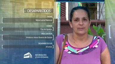 Segunda-feira é dia do quadro Desaparecidos em Foz e Francisco Beltrão - Uma oportunidade para encontrar aquele familiar que você perdeu o contato há muito tempo.