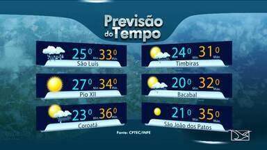 Veja a previsão do tempo para este fim de semana no Maranhão - Veja a previsão do tempo para este fim de semana no Maranhão.