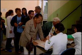 Segunda etapa de vacinação contra H1N1 é realizada em Divinópolis - 22 mil doses da vacina foram oferecidas. Na cidade a previsão é que mais de 49 mil pessoas sejam atendidas até o final da campanha.