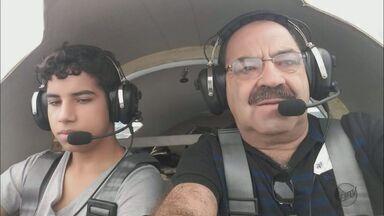 Piloto que construiu próprio avião e o filho morrem em queda no Sul de MG - Piloto que construiu próprio avião e o filho morrem em queda no Sul de MG