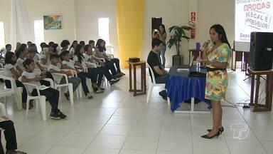 Estudantes participam de ações de prevenção e combate ao uso de drogas em Santarém - Ações foram desenvolvidas pela comissão de prevenção às drogas da Assembleia Legislativa do Pará.