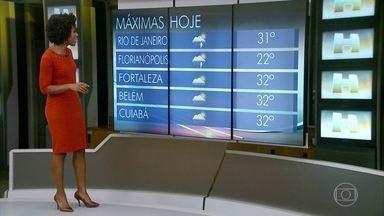 Previsão é de chuva em São Paulo - A temperatura máxima em São Paulo é de 21ºC. Veja a previsão do tempo para todo o país neste sábado (21).