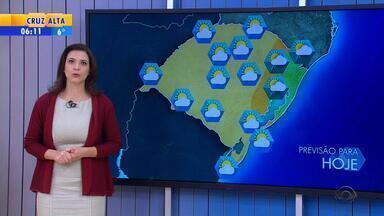 Tempo: sol aparece entre nuvens na maior parte do RS nesta segunda (23) - No Litoral Norte e Região Metropolitana pode ocorrer chuva ao longo do dia.