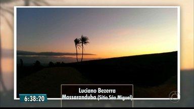 Veja imagens do amanhecer na Paraíba - Imagens foram enviadas por telespectadores.