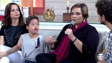 Fabiana fala sobre a decisão de adotar Miguel, que tem síndrome de Down - Ela fala sobre as dificuldades para crianças portadoras de doenças encontrarem um novo lar