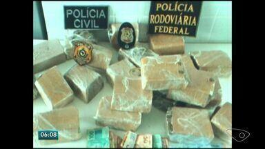 Polícia prende grupo com 200kg de maconha no ES - Um dos maiores traficantes do Sul do estado foi preso na operação.
