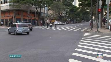 Muitos casos de atropelamento em Belo Horizonte ocorrem na Avenida Afonso Pena - Nesta semana, o Bom Dia Minas está mostrando as cinco vias que mais registram acidentes na capital mineira.