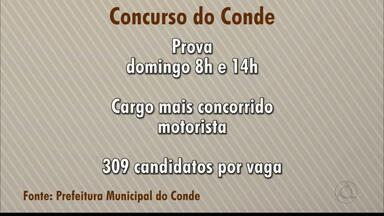 Divulgada a concorrência para cargos do concurso do Conde - Em alguns cargos são mais de 300 candidatos por vaga.
