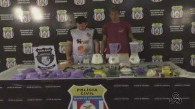 Dupla é presa com 15 kg de drogas em residência na Zona Sul de Manaus - Suspeitos utilizavam casa no bairro Petrópolis como laboratório de drogas. Operação foi realizada pela Polícia Civil nesta segunda-feira (30).