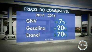 Motoristas buscam alterantiva à gasolina e ao álcool - GNV voltou a ser opção.