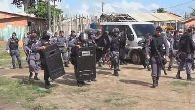 Polícia faz reintegração de posse em Parintins, no AM - Ação ocorreu de modo pacífico.