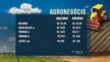 Veja os preços de alguns produtos da Região Norte - Os dados são da Sepror AM e Emater RO.