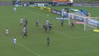Em partida de chances desperdiçadas, Londrina vence o Tupi-MG no Café - Com gol do atacante Jô, em parceria com Keirrison, Tubarão venceu a segunda na Série B. Tupi termina partida com dez em campo, depois de fratura grave de Formiga
