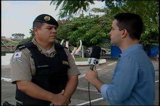 Polícia Militar divulga balanço de ocorrências na DivinaExpo em Divinópolis - Repórter Thiago carvalho conversa com o tenente da PM que comenta as ocorrências durante os dias da festa.