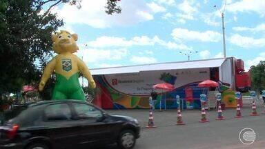 """Museu itinerante """"Se prepara Brasil"""" que faz a apresentação da olímpiada - Museu itinerante """"Se prepara Brasil"""" que faz a apresentação da olímpiada"""