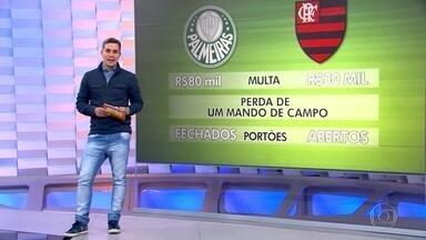 Palmeiras e Flamengo são punidos pelo STJD por confusão no jogo em Brasília - Palmeiras e Flamengo são punidos pelo STJD por confusão no jogo em Brasília