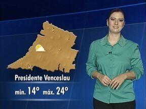 Débora Andreatto antecipa como ficam as temperaturas na região - Confira como ficam as temperaturas no Oeste Paulista.