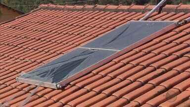 Mais placas de aquecedores solares voltam a estourar por conta do frio no Sul de Minas - Mais placas de aquecedores solares voltam a estourar por conta do frio no Sul de Minas