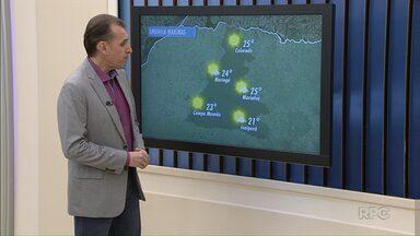Temperatura deve ficar mais amena nos próximos dias - a máxima em Maringá pode chegar a 24 graus