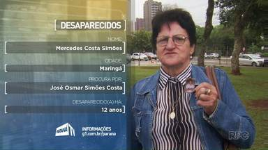Veja depoimentos de pessoas que procuram por parentes desaparecidos - Os vídeos foram gravados em Maringá.