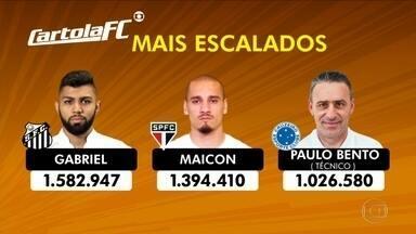 Gabigol, Maicon e Paulo Bento são os mais escalados da rodada #8 no Cartola FC - Gabigol, Maicon e Paulo Bento são os mais escalados da rodada #8 no Cartola FC