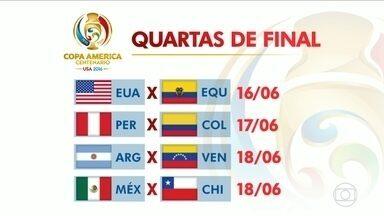 Argentina e Chile vencem e definem os confrontos das quartas de final da Copa América - Argentina e Chile vencem e definem os confrontos das quartas de final da Copa América