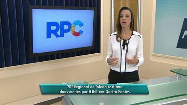 Duas pessoas morrem em Quatro Pontes vítimas da gripe A - As mortes foram confirmadas pela 20ª regional de saúde.