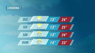 Fim do outono deve ser marcado por chuva em Londrina - Previsão é de aguaceiros até o fim de semana.
