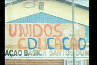 A maior escola de Santa Rosa, RS, é ocupada por alunos - O Polivalente foi ocupado por dez alunos que estão no pátio da escola.
