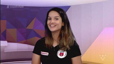 Raphaella Galacho concede entrevista no estúdio do Corpo em Ação - Atleta santista é uma das melhores do mundo no taekwondo.