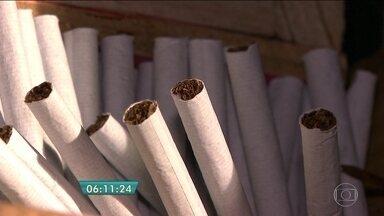 Polícia apreende cerca de dois milhões de cigarros em fábrica clandestina em Ibiúna - Os 15 funcionários que trabalhavam no momento da apreensão foram presos. Eles vão responder por crime contra a saúde pública, associação criminosa e violação de direito autoral. O destino dos cigarros era o comércio do centro de São Paulo.
