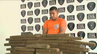 Ex-militar das Forças Armadas é preso no MA com 60 kg de maconha - A droga que era trazida do Tocantins para a capital maranhense estava escondida no carro em que ele viajava.