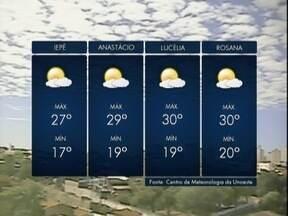 Sol deve predominar na região de Pres. Prudente - Veja como ficam as previsões para esta semana.