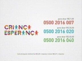 Saiba como colaborar com o 'Criança Esperança' - Doações podem ser feitas pelo telefone.