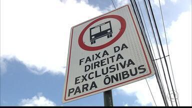 Mobilidade urbana : ônibus terão mais faixas exclusivas em João Pessoa - A partir de hoje o bairro de Mangabeira terá faixas exclusivas para os ônibus.