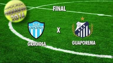 Definidos os dois finalistas do Amadorzão 2016 - Graciosa e Guaporema foram os melhores times nas fases de classificação e semifinais.
