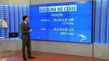 Gasolina no Ceará é a segunda mais cara do Brasil, diz ANP - Preço médio chega a quase R$ 4.