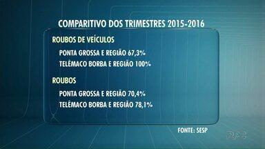 Roubos de veículos aumentam 100% em Telêmaco Borba e região - Os índices da criminalidade em Ponta Grossa e região também aumentaram