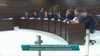 Vereadores aprovam projeto que cria comitê de transporte municipal escolar - Exigência foi da secretaria Estadual de Educação.