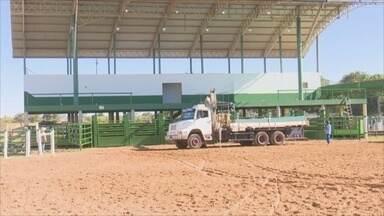 Corpo de Bombeiros vistoria parque de exposições de Vilhena, RO - Feira agropecuária começa na próxima quarta-feira (6).