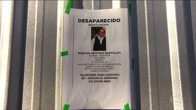 Corpo do taxista de São Bernardo, que estava desaparecido há duas semanas, é encontrado - Marcos Antônio Bartoleti tinha 52 anos e estava desaparecido há 15 dias. A família chegou a espalhar cartazes com a foto dele por São Bernardo.