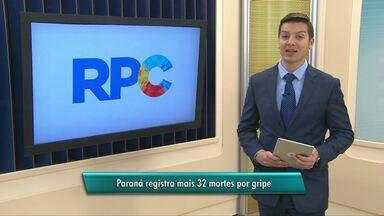 Paraná registra mais 32 mortes por gripe - Novo boletim foi divulgado nesta quarta-feira.