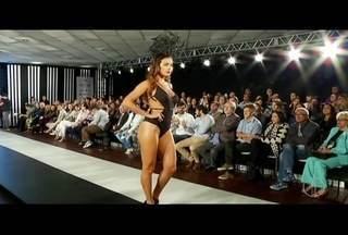 Feira de moda íntima é aberta com desfile e novidades em Nova Friburgo, no RJ - Rendas, tules e tiras foram algumas tendências apresentadas.