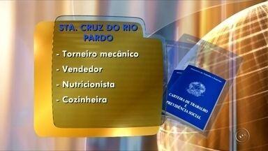 PAT de Santa Cruz oferece vagas de emprego - O Posto de Atendimento ao Trabalhador (PAT) de Santa Cruz do Rio Pardo (SP) oferece vagas de emprego para torneiro mecânico, vendedor, nutricionista e cozinheira. O PAT fica na Avenida Tiradentes, 438.