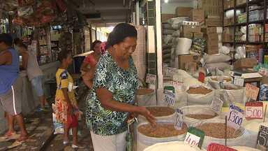 Preço feijão contribui para uma cesta básica mais cara; veja um giro pelo estado - O valor do feijão pode ser comparado até ao preço do ouro; veja na reportagem
