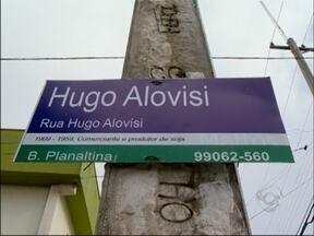 Placas com nomes de rua agora tem um pouco da história - A mudança é uma exigência de um projeto de lei