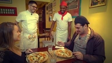Hoje é dia de pizza: a tradicional Napolitana! - Alexandre Henderson aprende a fazer uma tradicional pizza Napolitana.