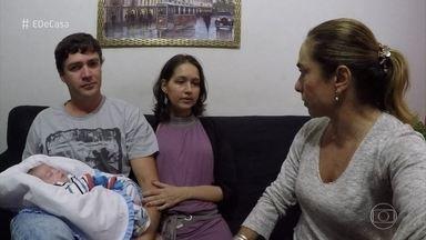 Cissa Guimarães visita Andreia que deu a luz em coma aos 6 meses de gestação - A mãe teve gripe h1n1 e só conheceu o filho 45 dias depois do nascimento