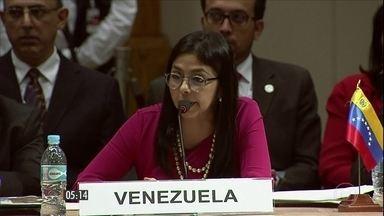 Fundadores do Mercosul não chegam a consenso sobre Venezuela na presidência do bloco - Países fundadores do Mercosul não chegam a consenso sobre passagem da presidência do bloco. A decisão foi adiada para esta quinta-feira (14).